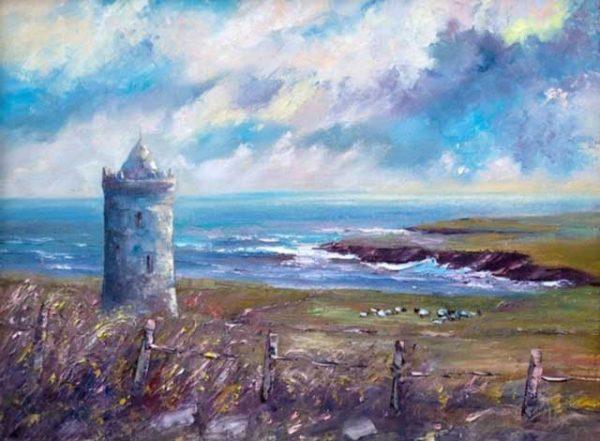 Doonagore Castle Doolin Painting