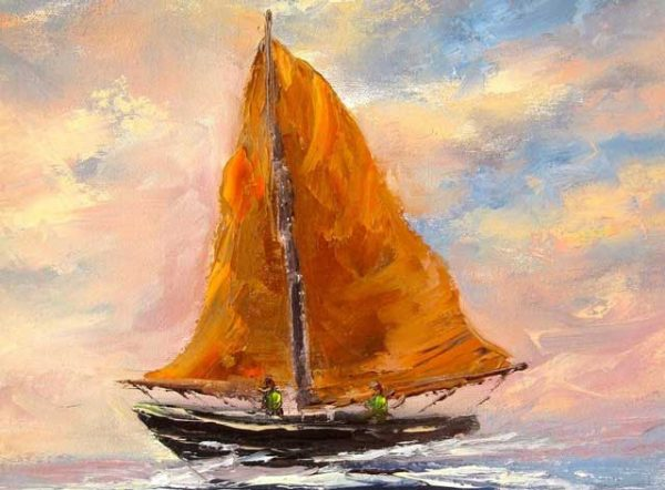 Galway Hooker Painting
