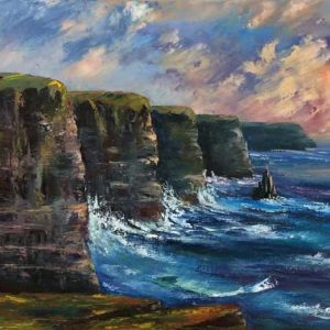 The Cliffs of Moher Painting