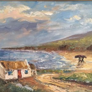 Oil painting of Achill Fisherman for sale