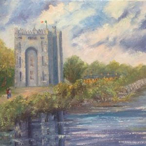 Oil painting of Bunratty Castle County Clare for sale online