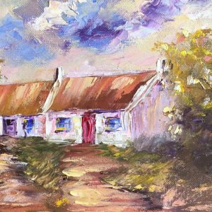 Burren Cottage Painting