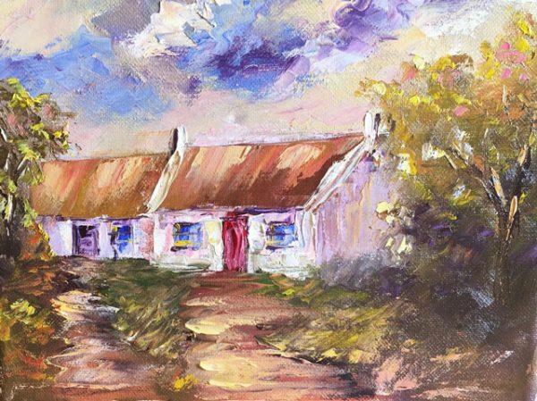 Burren Cottage Painting
