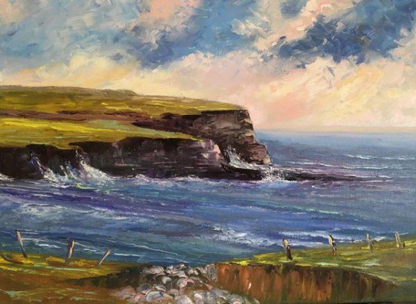 Doolin Cliffs Painting
