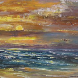 Sunset in Fanore Painting