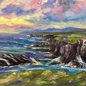 Atlantic Drive Achill Painting