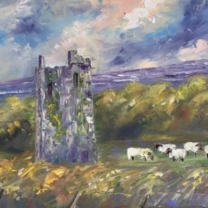 Painting of Ballinalacken Castle