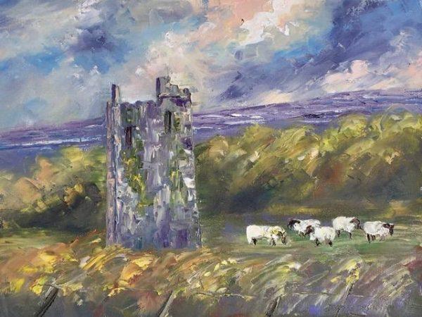 Painting of Ballinalacken Castle