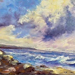 Stormy Sky Painting