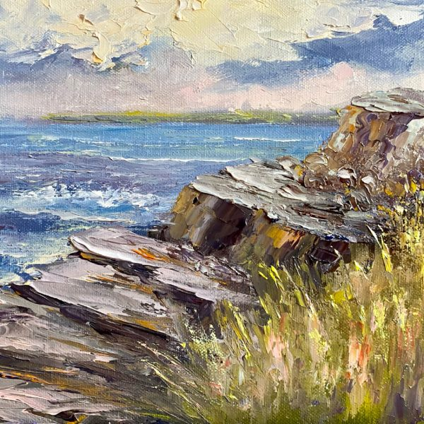 Along Cliffs of Moher Walk Painting