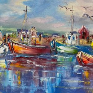 Dingle Boats Painting