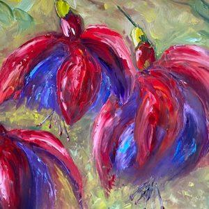 Fuchsia from my Garden Painting