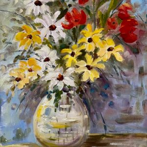 Oil painting of Spring Bouquet