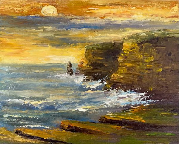 Sunset at the Cliffs of Moher Painting
