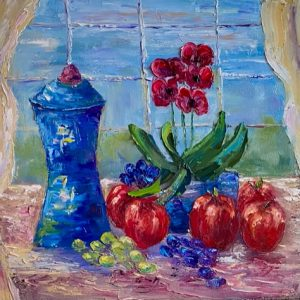 Windowsill Still Life Painting
