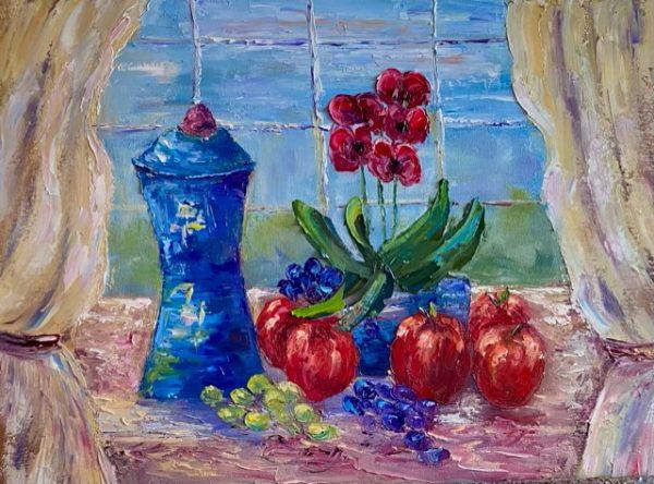 Windowsill Still Life Painting